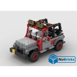 NOTICE DE MONTAGE NILLBRICKS LEGO JEEP JURASSIC PARK 2 GRISE : NM00162