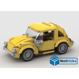 NOTICE DE MONTAGE NILLBRICKS LEGO VOLKSWAGEN COX JAUNE : NM00167