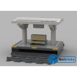 NOTICE DE MONTAGE NILLBRICKS LEGO QUAI SIMPLE TRAIN OU METRO : NM00169