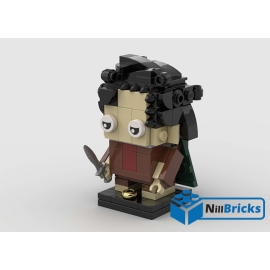 NOTICE DE MONTAGE NILLBRICKS LEGO BRICKHEADZ FRODON LOTR : NM00171