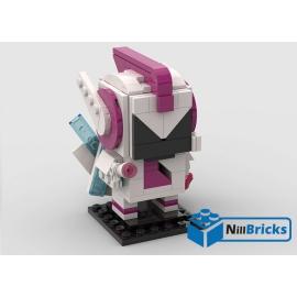 NOTICE DE MONTAGE NILLBRICKS LEGO BRICKHEADZ SWEET MAYHEM MOVIE : NM00180