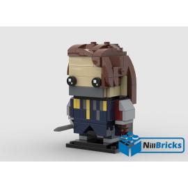 NOTICE DE MONTAGE NILLBRICKS LEGO BRICKHEADZ LOTR ARAGORN : NM00190