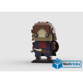 NOTICE DE MONTAGE NILLBRICKS LEGO BRICKHEADZ LOTR BOROMIR : NM00191