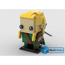 NOTICE DE MONTAGE NILLBRICKS LEGO BRICKHEADZ LOTR LEGOLAS : NM00192