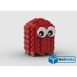 NOTICE DE MONTAGE NILLBRICKS LEGO FANTOME ROUGE PACMAN : NM00195