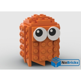 NOTICE DE MONTAGE NILLBRICKS LEGO FANTOME ORANGE PACMAN : NM00197