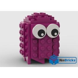 NOTICE DE MONTAGE NILLBRICKS LEGO FANTOME ROSE PACMAN : NM00198