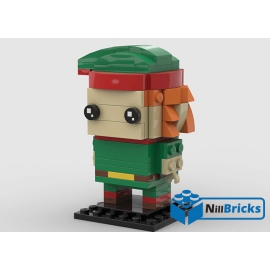 NOTICE DE MONTAGE NILLBRICKS LEGO ELF DU PERE NOEL BRICKHEADZ : NM00201