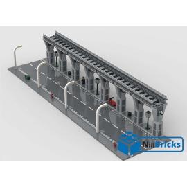 NOTICE DE MONTAGE NILLBRICKS LEGO VOIE AVEC PONT POUR TRAIN : NM00214