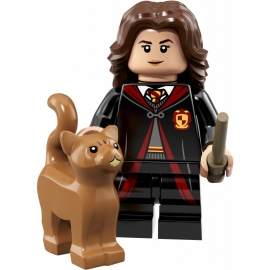 Minifigurine lego serie Harry potter and fantastic beast  numéro 2  Hermione Granger et son chat ref : FIG00015