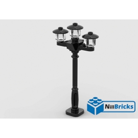 NOTICE DE MONTAGE NILLBRICKS LEGO LAMPADAIRE TRIPLE : NM00222