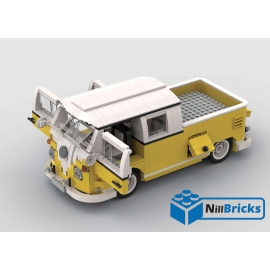 NOTICE DE MONTAGE NILLBRICKS LEGO COMBI VW DOUBLE CAB PICKUP JAUNE : NM00231