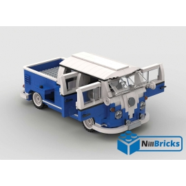 NOTICE DE MONTAGE NILLBRICKS LEGO COMBI VW DOUBLE CAB PICKUP BLEU : NM00232