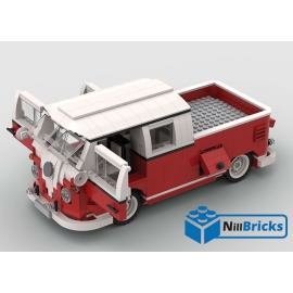 NOTICE DE MONTAGE NILLBRICKS LEGO COMBI VW DOUBLE CAB PICKUP ROUGE : NM00236