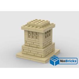 NOTICE DE MONTAGE NILLBRICKS LEGO SOCLE STATUE LIBERTE BRICKHEADZ 1 : NM00243