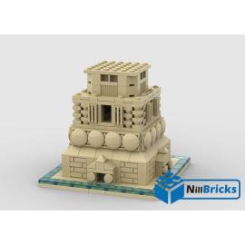 NOTICE DE MONTAGE NILLBRICKS LEGO SOCLE STATUE LIBERTE BRICKHEADZ 2 : NM00244