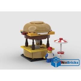 NOTICE DE MONTAGE NILLBRICKS LEGO STAND BURGER : NM00250