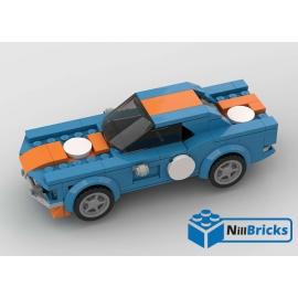 NOTICE DE MONTAGE NILLBRICKS LEGO MUSTANG GULF : NM00252