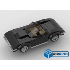 NOTICE DE MONTAGE NILLBRICKS LEGO CORVETTE C3 CABRIOLET : NM00253