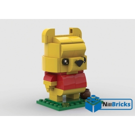 NOTICE DE MONTAGE NILLBRICKS LEGO WINNIE L OURSON BRICKHEADZ : NM00255