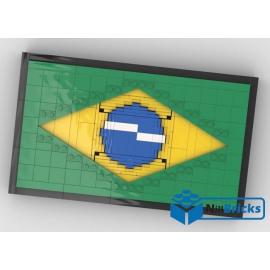 NOTICE DE MONTAGE NILLBRICKS LEGO DRAPEAU DU BRESIL : NM00263