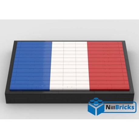 NOTICE DE MONTAGE NILLBRICKS LEGO DRAPEAU DE LA FRANCE : NM00264