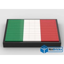 NOTICE DE MONTAGE NILLBRICKS LEGO DRAPEAU DE L'ITALIE : NM00265