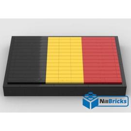 NOTICE DE MONTAGE NILLBRICKS LEGO DRAPEAU DE LA BELGIQUE : NM00267