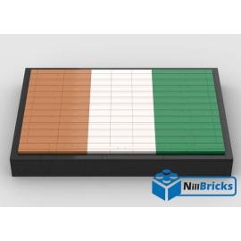 NOTICE DE MONTAGE NILLBRICKS LEGO DRAPEAU DE LA COTE D'IVOIRE : NM00268