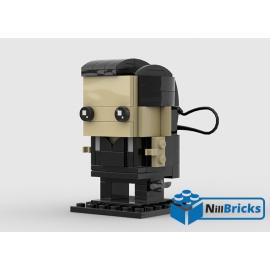 NOTICE DE MONTAGE NILLBRICKS LEGO JAMES BOND TIMOTHY DALTON BRICKHEADZ : NM00283