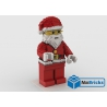 NOTICE DE MONTAGE NILLBRICKS LEGO MAXI FIG PERE NOEL ROUGE : NM00290
