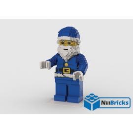 NOTICE DE MONTAGE NILLBRICKS LEGO MAXI FIG PERE NOEL BLEU : NM00291
