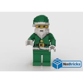 NOTICE DE MONTAGE NILLBRICKS LEGO MAXI FIG PERE NOEL VERT : NM00292