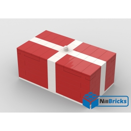 NOTICE DE MONTAGE NILLBRICKS LEGO CADEAU DE NOEL GEANT ROUGE : NM00294