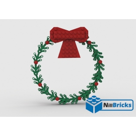 NOTICE DE MONTAGE NILLBRICKS LEGO COURONNE DE NOEL : NM00298