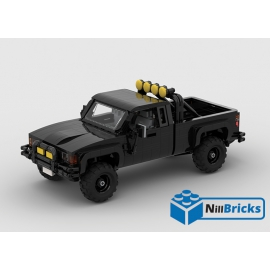 NOTICE DE MONTAGE NILLBRICKS LEGO 4X4 MARTY BTTF : NM00300