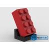 NOTICE DE MONTAGE NILLBRICKS LEGO BRIQUE 4X2 ROUGE : NM00301