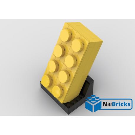 NOTICE DE MONTAGE NILLBRICKS LEGO BRIQUE 4X2 BLEUE : NM00302