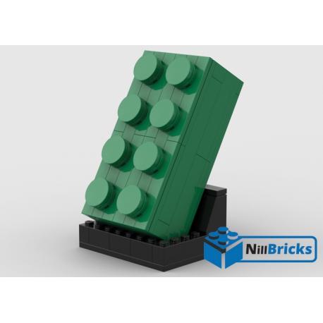 NOTICE DE MONTAGE NILLBRICKS LEGO BRIQUE 4X2 VERTE : NM00304