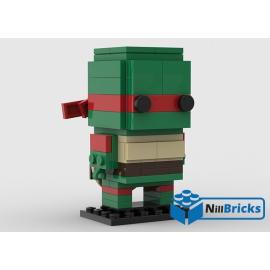 NOTICE DE MONTAGE NILLBRICKS LEGO BRICKHEADZ TORTUE NINJA 2 RAPHAELO : NM00316