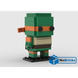 NOTICE DE MONTAGE NILLBRICKS LEGO BRICKHEADZ TORTUE NINJA 4 MICHAELANGELO : NM00318