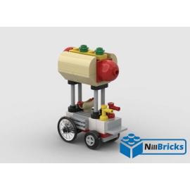 NOTICE DE MONTAGE NILLBRICKS LEGO MINI STAND HOT DOG : NM00336