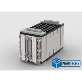 NOTICE DE MONTAGE NILLBRICKS LEGO CONTENEUR 1 BLANC POUR WAGON 6  : NM00338