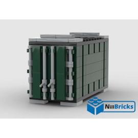 NOTICE DE MONTAGE NILLBRICKS LEGO CONTENEUR 2 VERT POUR WAGON 6  : NM00339