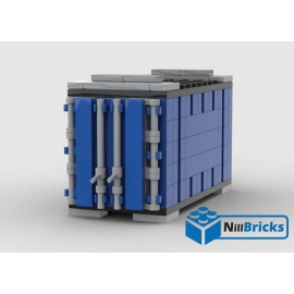 NOTICE DE MONTAGE NILLBRICKS LEGO CONTENEUR 3 BLEU POUR WAGON 6  : NM00340