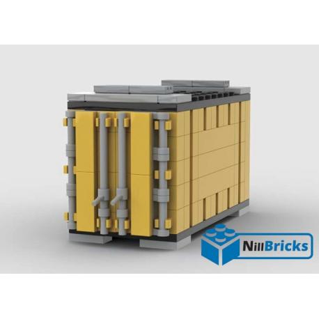 NOTICE DE MONTAGE NILLBRICKS LEGO CONTENEUR 4 JAUNE POUR WAGON 6  : NM00341