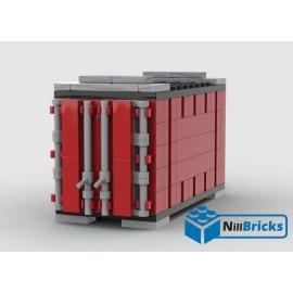 NOTICE DE MONTAGE NILLBRICKS LEGO CONTENEUR 5 ROUGE POUR WAGON 6  : NM00342