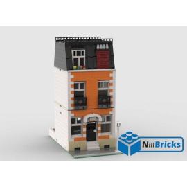 NOTICE DE MONTAGE NILLBRICKS LEGO MAISON DE VILLE 4 ORANGE : NM00353