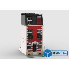 NOTICE DE MONTAGE NILLBRICKS LEGO MAISON DE VILLE 5 ROUGE : NM00354