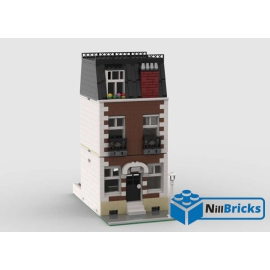 NOTICE DE MONTAGE NILLBRICKS LEGO MAISON DE VILLE 6 MARRON : NM00355